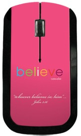 Believe USB Wireless Mouse, Pink