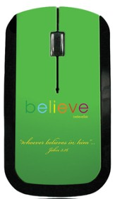 Believe USB Wireless Mouse, Green