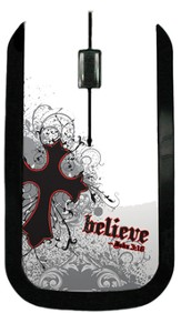 Believe with Cross USB Wireless Mouse, White