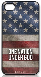 One Nation Under God America Flag iPhone 4 Case
