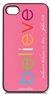 Believe iPhone 4 Case, Pink