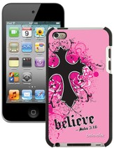 Believe with Cross iPod Touch 4G Case, Pink