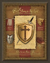 Be Strong In the Lord, Shield, Framed Art