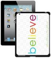 Believe iPad Case, White