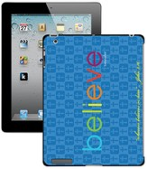 Believe iPad Case, Blue