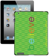 Believe iPad Case, Green