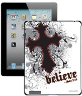 Believe with Cross iPad Case, White