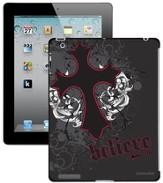 Believe with Cross iPad Case, Black