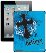 Believe with Cross iPad Case, Blue