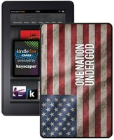 One Nation Under God America Flag Kindle Fire Case