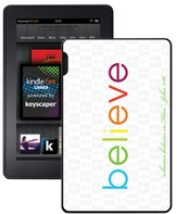 Believe Kindle Fire Case, White