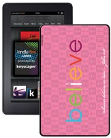 Believe Kindle Fire Case, Pink
