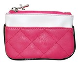 Retro Coin Purse, Pink and White
