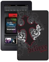 Believe with Cross Kindle Fire Case, Black