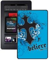 Believe with Cross Kindle Fire Case, Blue