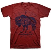 America The Beautiful Shirt, Red,   X-Large