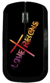 Love Reigns Cross USB Wireless Mouse, Black