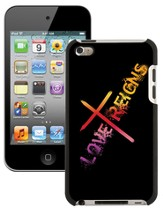 Love Reigns Cross, iPod 4G Case, Black