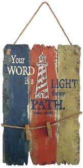 Nautical, Your Word Is A Light For My Path, Lighthouse Wall Art