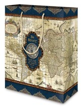 Nautical, Compass Gift Bag, Medium