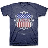 USA Shield Shirt, Heather Navy,  XX-Large