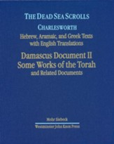 The Dead Sea Scrolls, Volume 3: Damascus Document Fragments, Some Works of the Torah, Related Documents