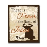 There is Power in the Name of Jesus, Plaque