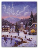Ice Skating Village, Christmas Cards, Box of 18