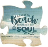 A Day At The Beach Restors The Soul, Puzzle Picture, 12 X12