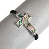 Shell Sideways Cross Bracelet