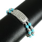 You Will Seek Me, Jeremiah 29:13 Bracelet, Turquoise