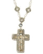 Crystal Cross Outline Necklace