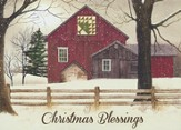 Pine Tree Quilt Barns (Romans 15:13, NIV), 20 Count Boxed Christmas Cards