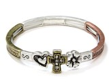 Serenity Prayer Bracelet, Burnished Tritone