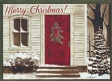 Welcome Wreath (Numbers 6:24-25, NIrV), 20 Count Boxed Christmas Cards