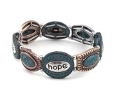 Hope, Faith, Patina Bracelet