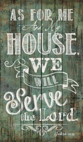 As for Me and My House, Rustic Wall Art, Green