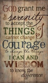 Serenity Prayer, Rustic Wall Art