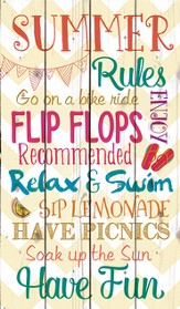 Summer Rules, Rustic Wall Art