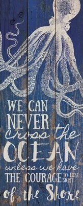 Courage, Rustic Wall Art