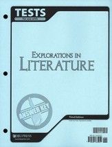 BJU Explorations in Literature Test Answer Key, Grade 7  (Third Edition)
