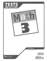 BJU Math Grade 3 Tests, Third Edition