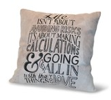 Life Isn't About Avoiding Risks, Suede Leather Pillow