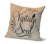 I'm Just A Vintage Soul, Suede Leather Pillow