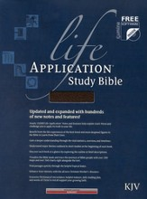 KJV Life Application Study Bible, Bonded leather, Burgundy,  Thumb-Indexed