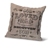 For God So Loved the World, Suede Leather Pillow