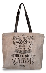 Gather In My Name, Suede Leather Tote Bag