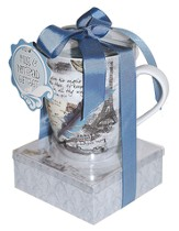 The World Is A Book Mug and Notepad Gift set