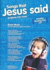 Songs That Jesus Said Songbook