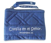 Confia en el Senor, Monedero Azul Marino  (Trust in the Lord, Coin Purse, Navy Blue)